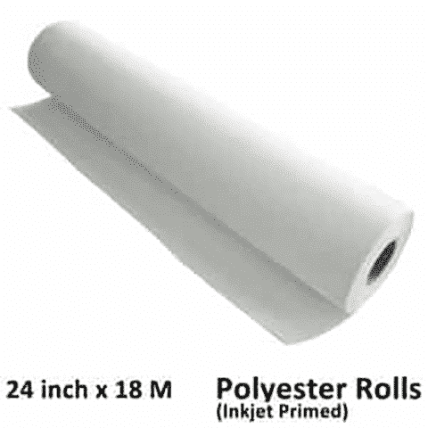 24 inch x 18 meter M Meters Polyester Inkjet canvas rolls wholesale canvas