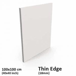 100x100cm thin edge canvas