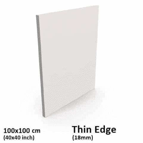 Buy Blank Thin Edge Stretched Canvas 100x100cm 40x40 Inch
