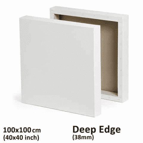 100x100cm deep edge canvas