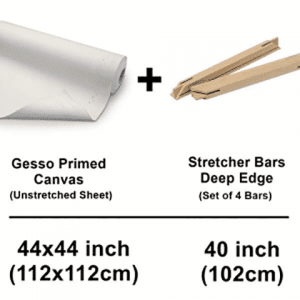 12-x-112-cm-44-x-44-inch-set-of-unstrecthed-canvas-cotton-sheet-with-deep-edge-strecher-bars