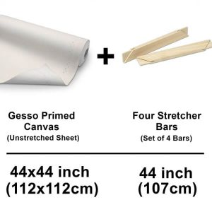 112-x-112-cm-44-x-44-inch-set-of-unstrecthed-canvas-cotton-sheet-with-strecher-bars-42-inch-107-cm