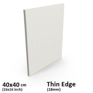 40x40 cm thin edge canvas