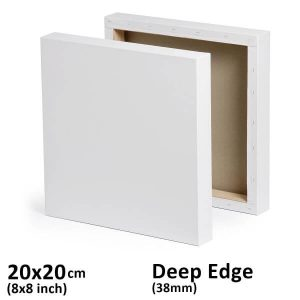 20x20cm deep edge stretched canvas