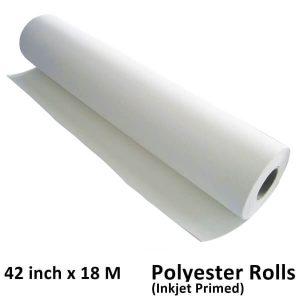 18m polyester canvas rolls 220 GSM matte inkjet canvas