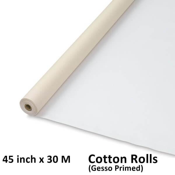 45 inch x 30 meter cotton canvas rolls
