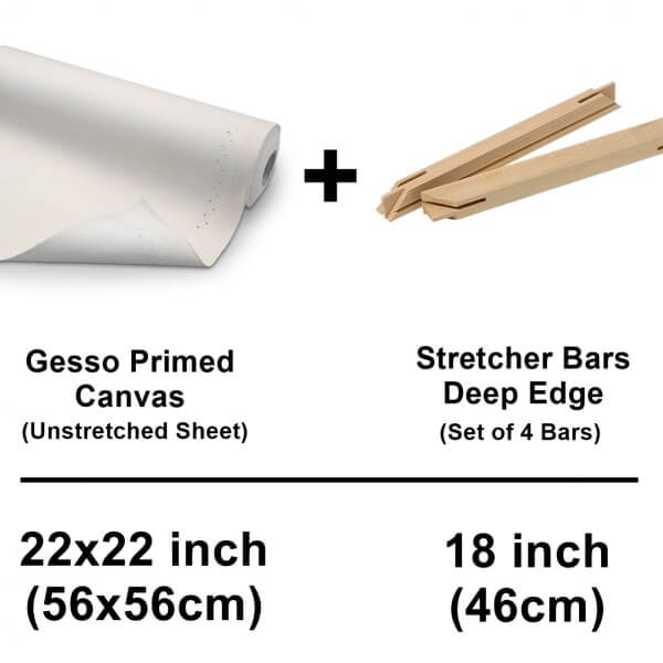 canvas cotton sheet with deep edge stretcher bars
