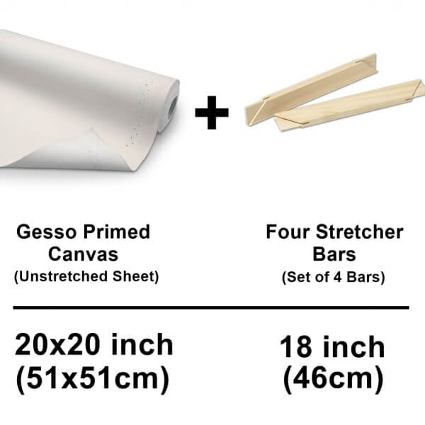 canvas cotton sheet with stretcher bars