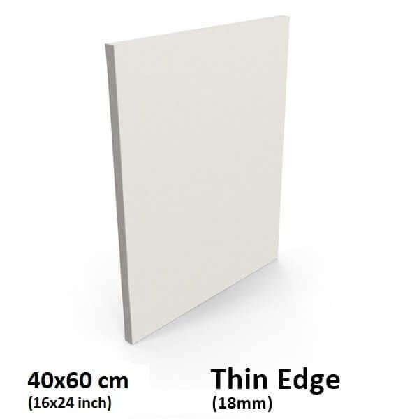 Buy Blank Thin Edge Stretched Canvas 40x60cm 16x24 Inch