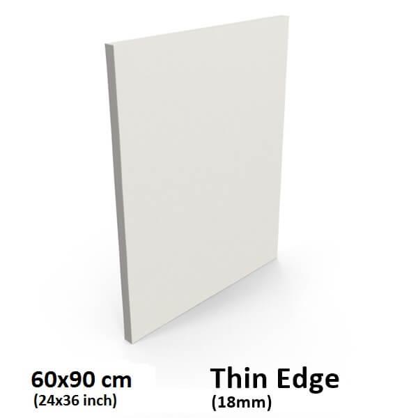 Buy Blank Thin Edge Stretched Canvas 60x90cm 24x36 Inch