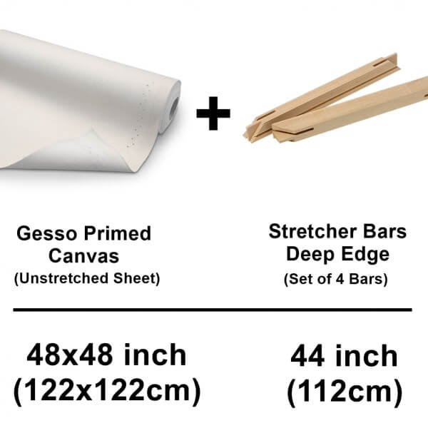 22-x-122-cm-48-x-48-inch-set-of-unstrecthed-canvas-cotton-sheet-with-deep-edge-strecher-bars-44-inch-112-cm