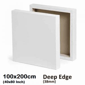 """100x200cm/40x80"""" Inch Deep Edge Blank Stretched Canvas"""