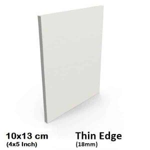 "10x13cm/4x5"" Inch Thin Edge Blank Stretched Canvas"