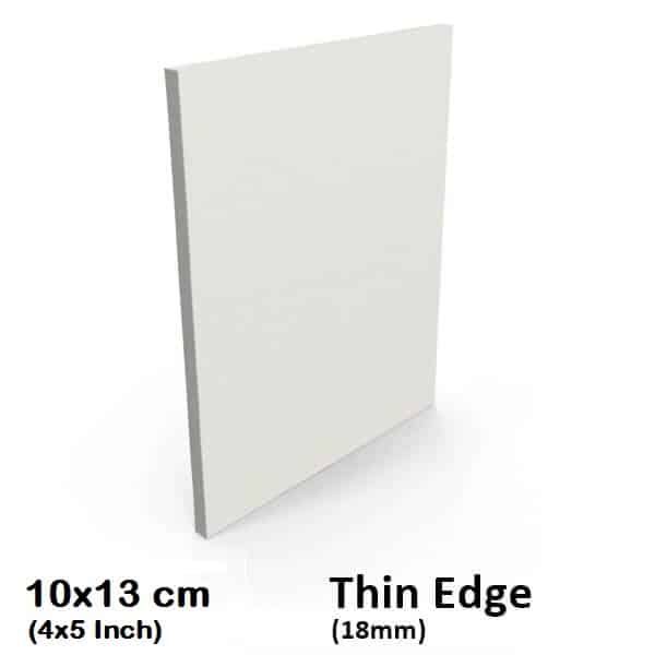 "10x13cm/4x5"" Inch Thin Edge Blank Stretched Canvas"
