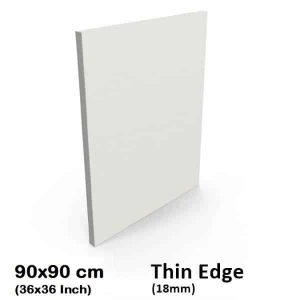 "90x90cm/36x36"" Inch Blank Thin Edge Stretched Canvas"